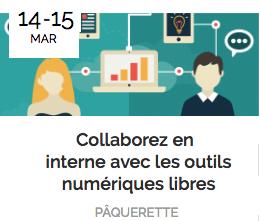 """Formation """"Collaborer en interne avec les outils numériques libres"""" – 14 et 15 mars à Paris"""