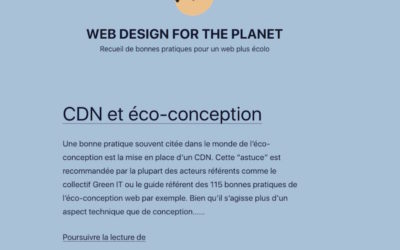 Web design for the planet